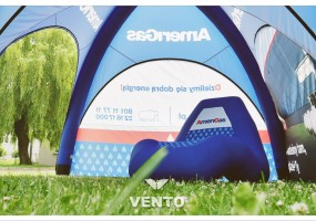 Fotel reklamowy wypełniony powietrzem - gazoszczelny fotel VENTO.