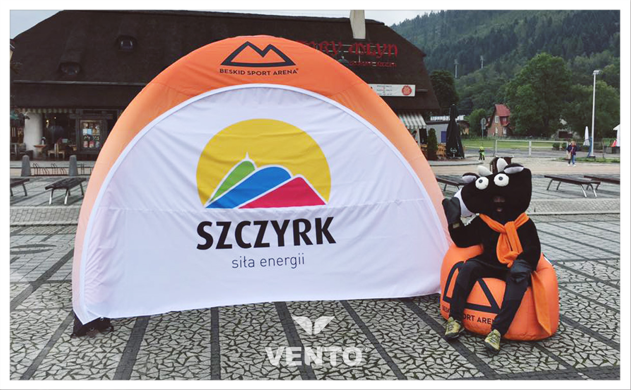 100% printing on VENTO tent, which does not require ventilator.
