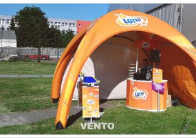 VENTO tent for Lotto - ready for outdoor actions.