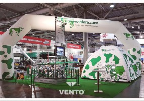 Advertising stand from VENTO tent and polygon gate.